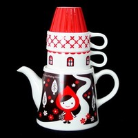 "Little Red Riding Hood Tea For Two - ""Otogicco"" Teapot"