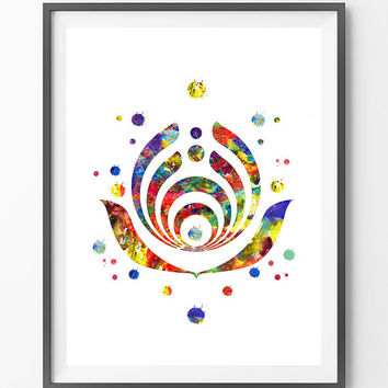 Bassnectar Bass drop Watercolor print, Bassnectar illustration, Geek Art boho wall art, basshead gift, bass drop poster [N177]