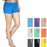 Basic Foldover Stretch Comfy Casual YOGA SHORTS S M L