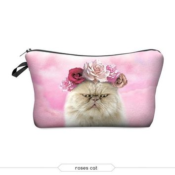 Cat Travel Cosmetic Bag