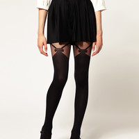 Gipsy Mock Bow Suspender Tights