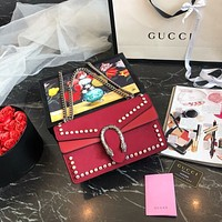 GUCCI Dionysus small crystal shoulder bag
