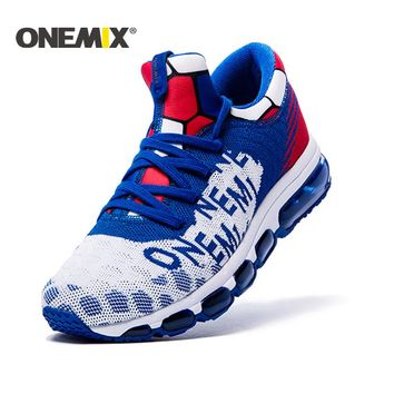 ONEMIX 2017 Men's running Shoes Air Cushion Outdoor Sport shoes Sneakers Male Athletic Shoes zapatos de hombre Men jogging shoes