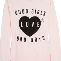 Zoe Karssen | Good Girls Love Bad Boys cotton-blend jersey sweatshirt | NET-A-PORTER.COM