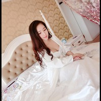 2017 High Quality Silk Sleepwear Women Long-sleeve Nightgown Two Pieces Set Queen Robe Dress Gorgeous Vestidos Sexy Lingerie - Lingerie Life