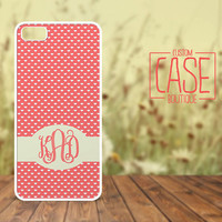 Personalized iPhone 4 / 4s or iPhone 5 Case - Plastic iPhone case - Rubber iPhone case - Monogram iPhone case - CB009