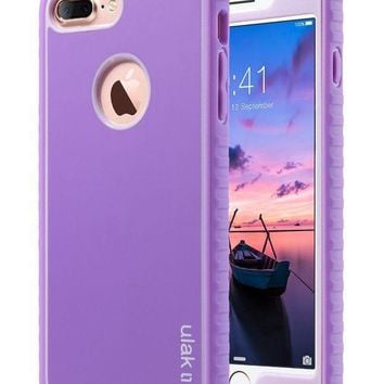 Iphone 7 Plus Case Iphone 7 Plus Case Purple Ulak Shockproof Flexible Tpu Bumper Case Durable Anti Slip Slim Front And Back Hard Protective Cover For Apple Iphone 7 Plus 5.5 Inch Purple