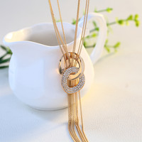 Jewelry Gift Shiny New Arrival Korean Sweater Chain Stylish Tassels Accessory Necklace [11405169615]