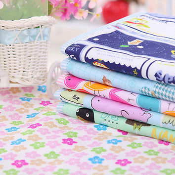 Hot Cotton Baby Changing Pad  Cover Burp Waterproof Urine Mat Color Random LS2