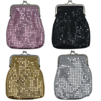 Women's Mesh Cigarette Cases for Regulars and Kings or Large Coin Purse with Twisp Clasp