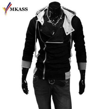 2017 Hot Sale Men Sweatshirts & Hoodies Male Tracksuit Hooded Jackets Fashion Casual Jackets For Men  M-6XL Assassins Creed