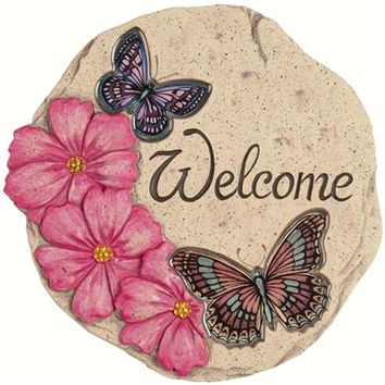 SheilaShrubs.com: Decor Stepping Stone Butterfly 11115 by Carson Home Accents: Garden Stones