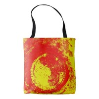 hot circle tote bag