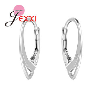 JEXXI 100 Pcs/ lot 925 Sterling Silver Hooks Coil Ear Wire Earrings Findings Jewelry Accessory DIY Earring free shipping