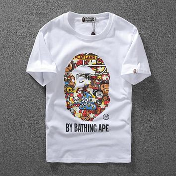 Good Quality Bape Summer Unisex Short Tee[10057981127]