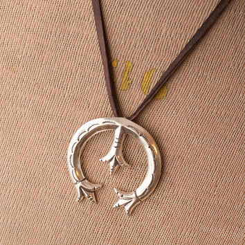 Leather Strap Naja Necklace