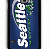 Samsung Galaxy S5 Case - Rubber (TPU) Cover with skittles seattle seahawks Rubber Case Design
