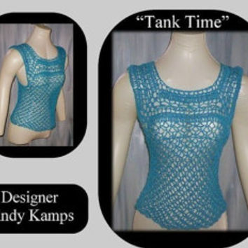 Introducing TANK TIME Crochet Tank Top Pattern by Cindy Kamps
