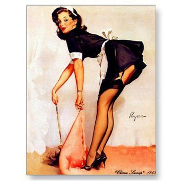 Vintage Retro Gil Elvgren Pin Up Girls Cards Post Card from Zazzle.com