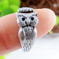 Cute Owl Animal Silver Ring
