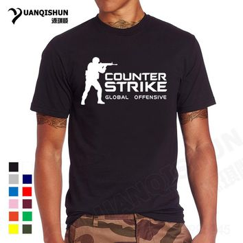 YUANQISHUN Brand Tee CS GO T Shirt Counter Strike Global Offensive CSGO TShirt Men Casual Games Team Funny T-Shirt Summer Tops
