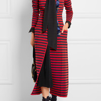 Sonia Rykiel - Striped knitted double-breasted coat