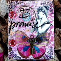 I Promise  Altered Victorian Themed Wall Hook By AlteredHead On Etsy
