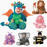 Baby animal cosplay Romper  kids Snowsuits Outerwear baby Clothes,cap and shoes Cartoon Plant Christmas, Halloween, Thanksgiving