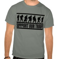 Support Our Troops ~ American Military Patriot T-shirts