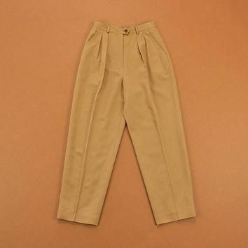 High Waist Trousers, Vintage 90s Trousers, Womens Ralph Lauren Pants, Wool Pleated Tro