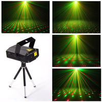 Mini LED R&G Laser Projector Stage Lighting Adjustment DJ Disco Party Club Light