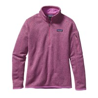 Patagonia Women's Better Sweater® Quarter Zip Fleece | Mock Purple