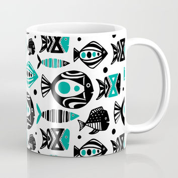 Deep Sea White Mug by Heather Dutton