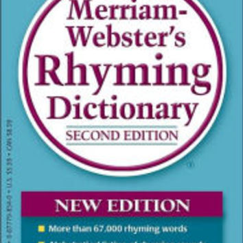 Merriam-Webster's Rhyming Dictionary by Merriam-Webster Inc. Staff, Paperback | Barnes & Noble®