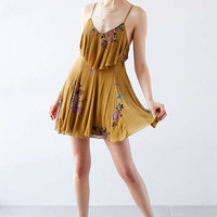 Ecote Mustard Seed Ruffle-Neck Knit Dress - Urban Outfitters