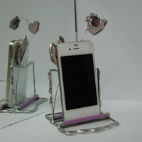 Stained Glass iPhone Stand Smartphone Stand Dock by GlassGadgets