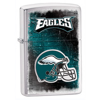 NFL Brushed Chrome Zippo Lighter - Philadelphia Eagles