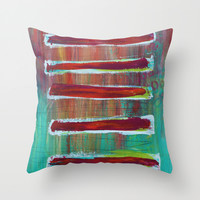 Sections Throw Pillow by Sophia Buddenhagen