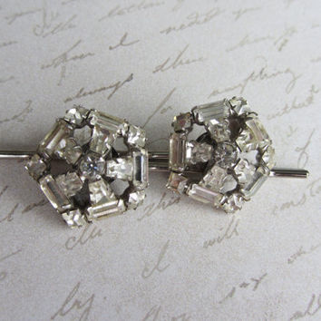 Rhinestone Bridal Hair Pins, Vintage Rhinestone Hair Pin Set, Bobby Pin