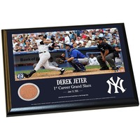 Steiner Sports New York Yankees Derek Jeter Moments First Career Grand Slam 8'' x 10'' Plaque with Authentic Field Dirt (Ynk Team)