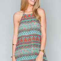 Show Me Your mumu Katy Halter Dress ~ Patriotic