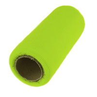 Premium Tulle Spool Roll, 6-inch, 25-yard, Key Lime