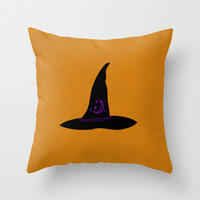 Witch Hat Throw Pillow by Brandy Coleman Ford