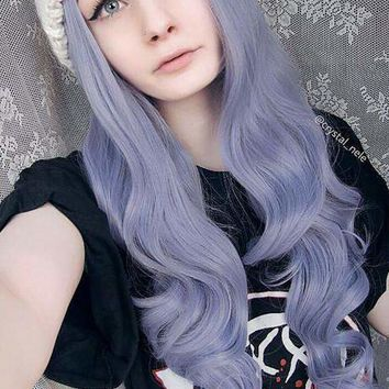 Lavender Long Wave Synthetic lace front wig