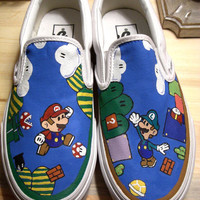 Handpainted Super Mario Bros Shoes (VANS)