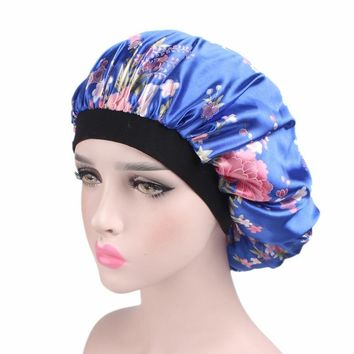 Women's Winter Hats Night Cap New Wide Band Hair Loss Chemo Winter Hats Comfortable Satin Bonnet Ladies Turban Caps
