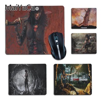 MaiYaCa Tomb Raider Legend Beautiful Game Girl Mouse Mat anime Gaming Mouse pad PC Computer cheapest Picture DIY Custom Mousepad