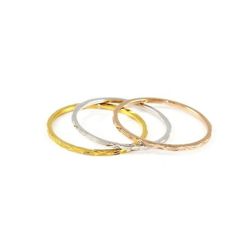 Dainty Trio Stack Rings