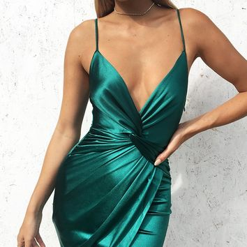 Belinda Dress Emerald