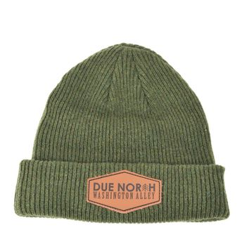 DUE NORTH BEANIE - OLIVE GREEN